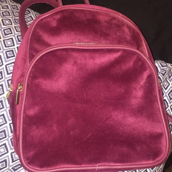 0bdd86debe0c Velvet maroon mini backpack. M 5a53008a61ca1006f801cd72. Other Bags you may  like. NWT-No Boundaries Fashion Backpack